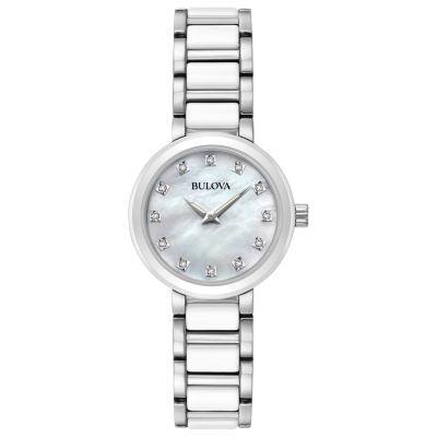 Bulova Womens Silver Tone Bracelet Watch-98p158