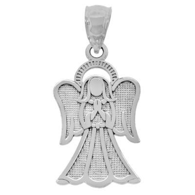 Sterling SIlver Praying Angel Charm Pendant