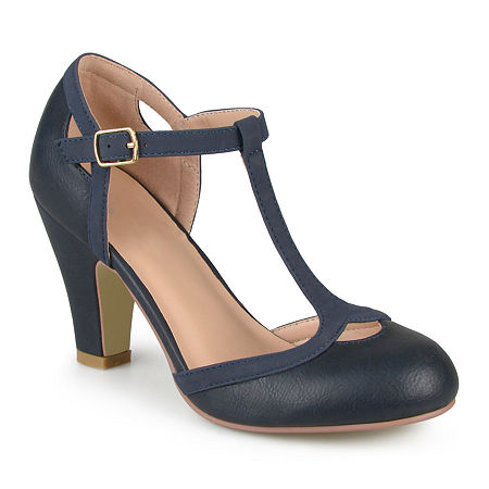 Vintage Heels, Retro Heels, Pumps, Shoes Journee Collection Womens Olina Pumps 8 12 Medium Blue $48.75 AT vintagedancer.com