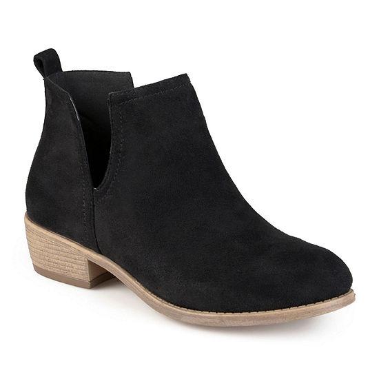 Journee Collection Womens Rimi Booties Block Heel Wide Width