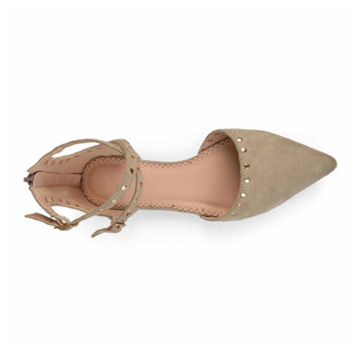 Journee Collection Womens Liset Ballet Flats Zip Pointed Toe