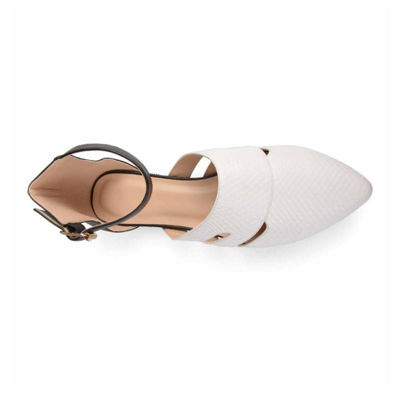 Journee Collection Womens Lindon Ballet Flats Buckle Pointed Toe