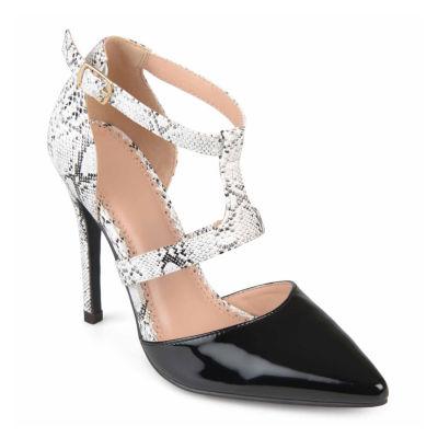 Journee Collection Brigid Womens Pumps Buckle Pointed Toe Stiletto Heel