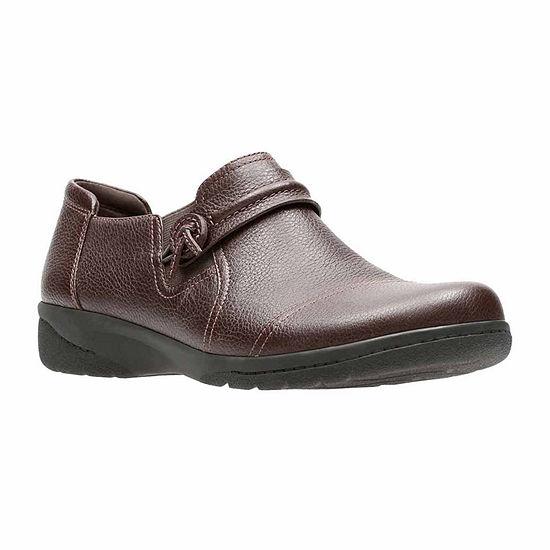 Clarks Cheyn Madi Leather Womens Slip-on Shoes