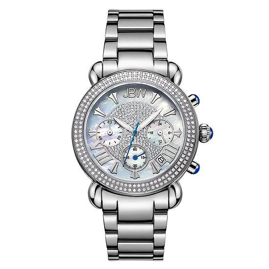 JBW Victory Womens Diamond-Accent Stainless Steel Bracelet Watch JB-6210-160-A