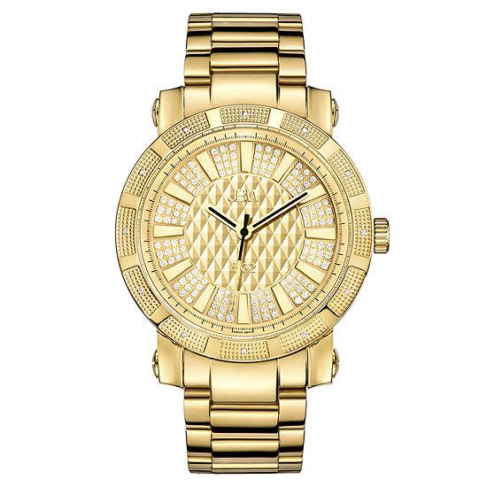 JBW 562 Mens 1/8 CT. T.W. Diamond Gold-Tone Stainless Steel Watch JB-6225-M
