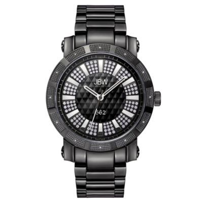 JBW 562 Mens 1/8 CT. T.W. Diamond Black Stainless Steel Watch JB-6225-D