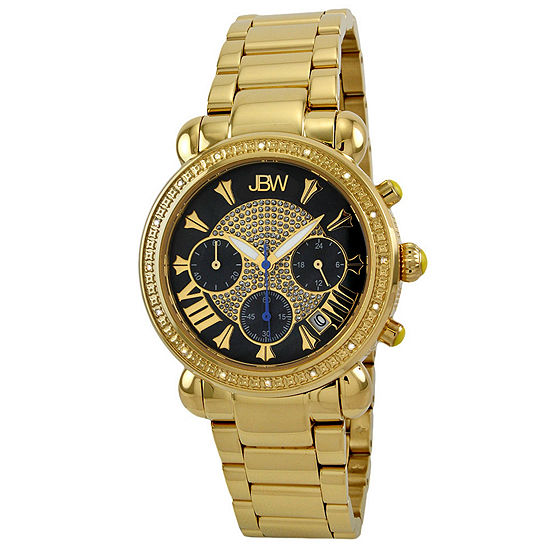 JBW Victory Womens 1/6 CT. T.W. Diamond Gold-Tone Stainless Steel Bracelet Watch JB-6210-B