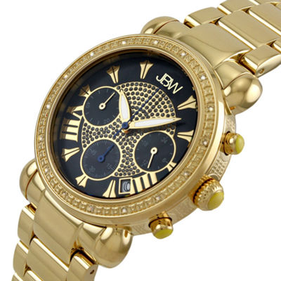 JBW Victory Womens 1/6 CT. T.W. Diamond Gold-Tone Stainless Steel Bracelet Watch JB-6210-B