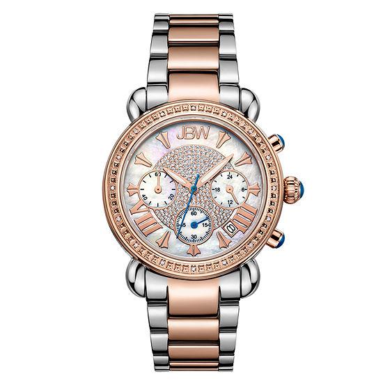 JBW Victory Womens 1/6 CT. T.W. Diamond Two-Tone Stainless Steel Bracelet Watch JB-6210-N