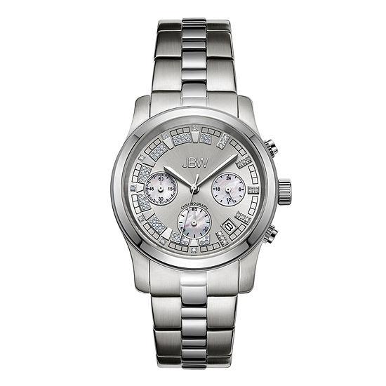 JBW Alessandra Womens Diamond-Accent Stainless Steel Bracelet Watch JB-6217-K