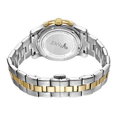 JBW Alessandra Womens 1/5 CT. T.W. Diamond Two-Tone Stainless Steel Bracelet Watch JB-6217-C