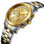 JBW Delano Mens 1/5 CT. T.W. Diamond Two-Tone Stainless Steel Watch JB-6218-C
