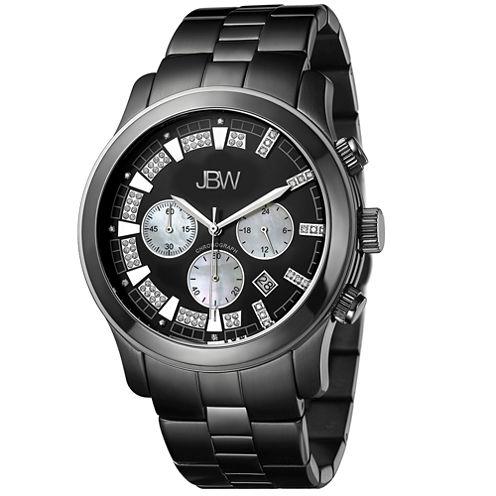 JBW Delano Mens 1/5 CT. T.W. Diamond Black Stainless Steel Watch JB-6218-H