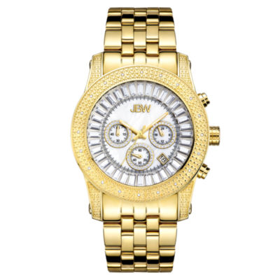 JBW Krypton Mens 1/3 CT. T.W. Diamond Gold-Tone Stainless Steel Watch JB-6219-F