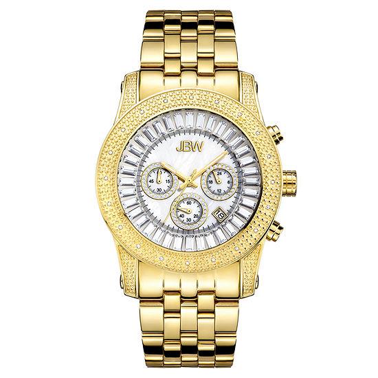 Jbw Krypton Mens 1 3 Ct Tw Diamond Gold Tone Stainless Steel Watch Jb 6219 F
