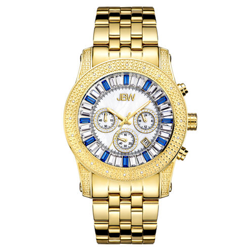 JBW Krypton Mens 1/3 CT. T.W. Diamond Gold-Tone Stainless Steel Watch JB-6219-G