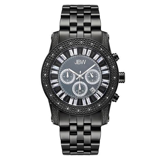 JBW Krypton Mens 1/3 CT. T.W. Diamond Black Stainless Steel Watch JB-6219-L