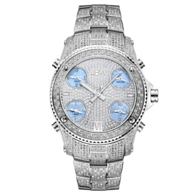 JBW Jet Setter Mens 3 CT. T.W. Diamond Stainless Steel Watch JB-6213-C
