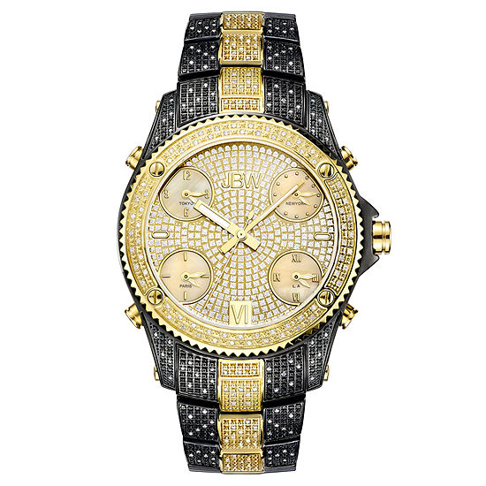 Jbw Jet Setter Mens 3 Ct Tw Diamond Two Tone Stainless Steel Watch Jb 6213 D