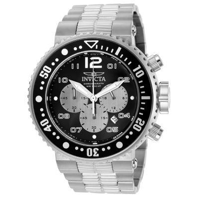 Invicta Pro Diver Unisex Silver Tone Strap Watch-25073