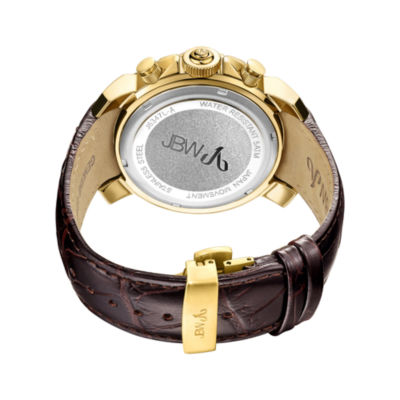JBW Diamond Mens Brown Strap Watch-J6347l-A