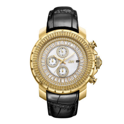 JBW Diamond Mens Black Strap Watch-J6347l-B