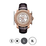 JBW Diamond Mens Multi-Function Diamond Accent Brown Leather Strap Watch-J6347l-C