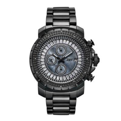 JBW Diamond Mens Black Bracelet Watch-J6347d