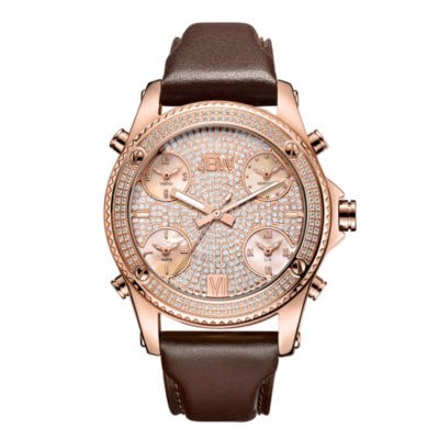 JBW Diamond Mens Rose Goldtone Strap Watch-J6354c