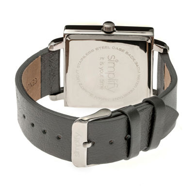Simplify Blue Dial Mens Gray Strap Watch-Sim5006