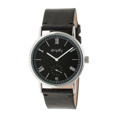 Simplify Mens Black Strap Watch-Sim5102