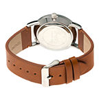 Simplify Mens Brown Leather Strap Watch-Sim5105