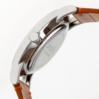 Simplify Mens Brown Strap Watch-Sim5105