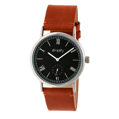 Simplify Mens Brown Strap Watch-Sim5106
