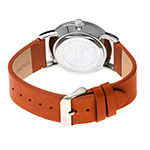 Simplify Mens Brown Leather Strap Watch-Sim5106