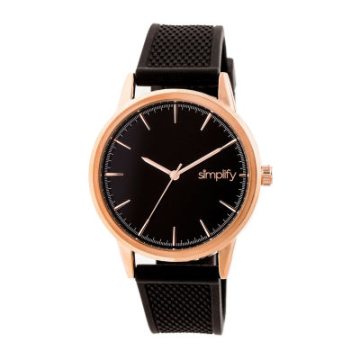 Simplify Mens Black Strap Watch-Sim5204