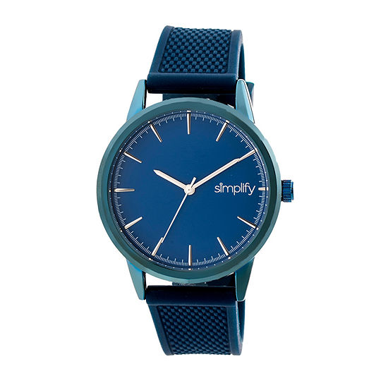 Simplify Blue Dial Mens Blue Strap Watch-Sim5206