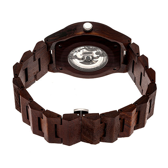 Earth Wood Gobi Unisex Adult Automatic Brown Bracelet Watch-Ethew4302