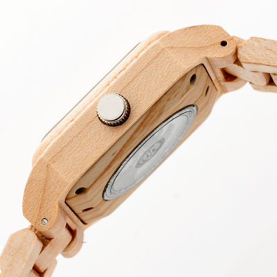 Earth Wood Black Rock Unisex Brown Bracelet Watch-Ethew4401