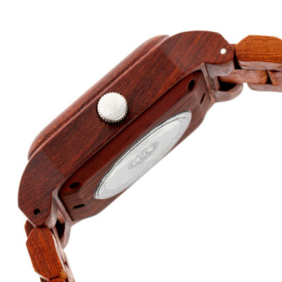 Earth Wood Black Rock Unisex Red Bracelet Watch-Ethew4403