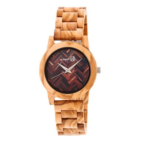 Earth Wood Crown Unisex Brown Bracelet Watch-Ethew4501
