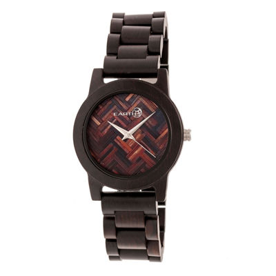 Earth Wood Crown Unisex Brown Bracelet Watch-Ethew4502