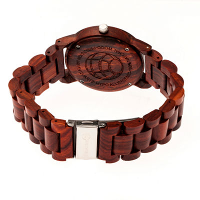 Earth Wood Crown Unisex Red Bracelet Watch-Ethew4503