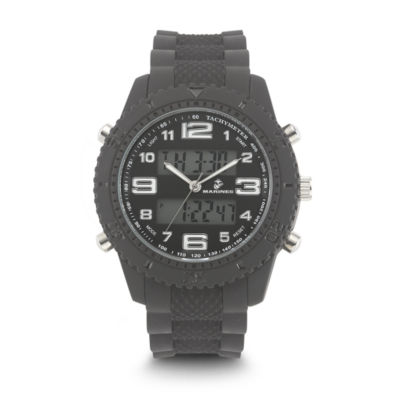 Wrist Armor U.S. Marine Corps C27 Mens Black Strap Watch-37100009
