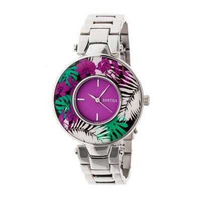 Bertha Womens Silver Tone Bracelet Watch-Bthbr6601