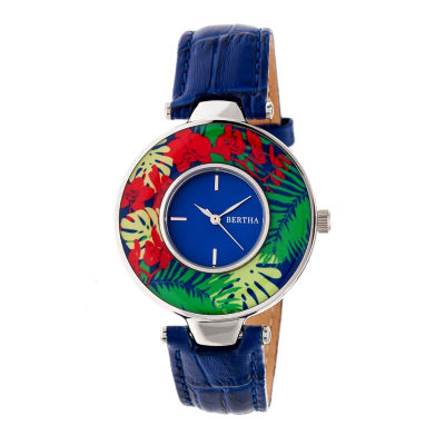 Bertha Womens Blue Strap Watch-Bthbr6604