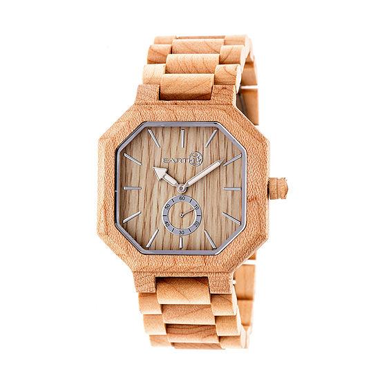 Earth Wood Acadia Unisex Adult Automatic Brown Bracelet Watch-Ethew4701