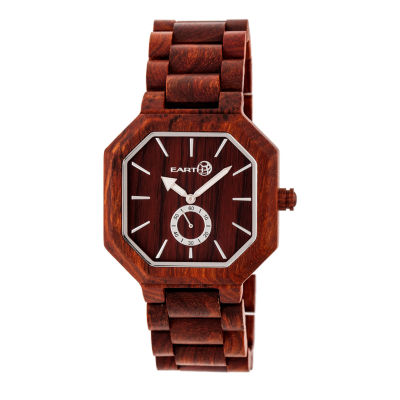 Earth Wood Acadia Unisex Red Bracelet Watch-Ethew4703