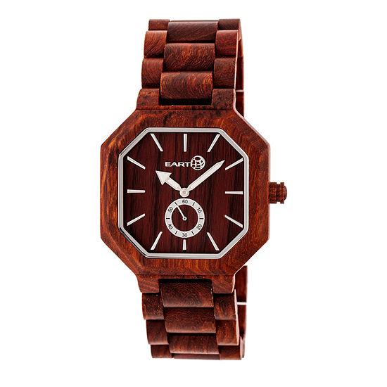 Earth Wood Acadia Unisex Adult Automatic Red Bracelet Watch-Ethew4703